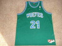 Vtg Nike Alternate GreEn Kevin Garnett Minnesota Timberwolves T-wolves Jersey
