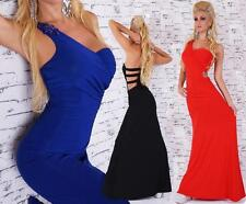 Polyester Patternless Maxi Dresses for Women