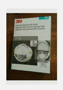8110S Pack - 20 In Sealed Box Small Size Face Covers Genuine 3M USA Made 02/2026