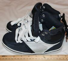 Op Boys/Youth  Athlethics Size 1y  Navy Blue/White/Silver High tops  Item #2
