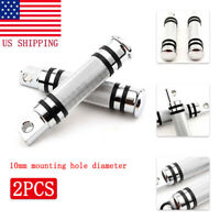 Chrome Motorcycle Rear Front Foot Pegs For Harley Sportster Softail Dyna Fatboy