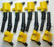 Set of 8 Heavy Duty Ignition Coils DG-508 YELLOW