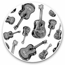 2 x Vinyl Stickers 30cm - Guitar Pattern Music Instrument Band  #45265