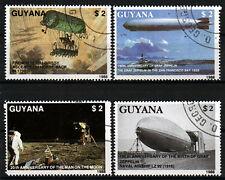 2485-88 Guyana, o, 150. COMPLEANNO Graf Zeppelin