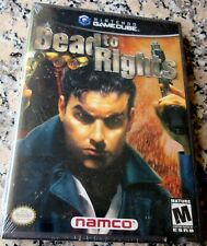 DEAD TO RIGHTS RARE NEW Nintendo Gamecube Namco Action Noir Jack Slate Cop $$$
