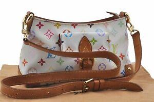 Louis Vuitton Monogram Multicolor Eliza White Shoulder Cross Bag M40098 LV E2754