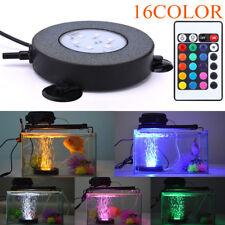 16Colors LED Bubble Air Stone Light Aquarium Lamp Changing Fish Tank Waterproof