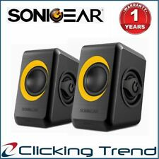 Computer Speakers SonicGear Quatro 2 USB Powered Bass Loud Style Speakers Red