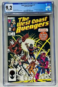 WEST COAST AVENGERS #1 CGC 9.2 NM (MARVEL 1985) CON'T VISION & SCARLET WITCH #1