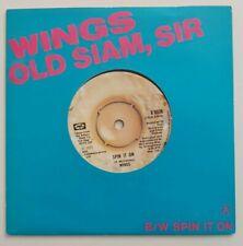 """PAUL McCARTNEY WINGS OLD SIAM SIR / SPIN IT ON  UK vinyl 7"""" BEATLES"""