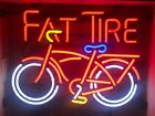 fat tire beer bike bicycle neon light up bar sign game room Belgium Authentic