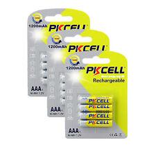 12pcs AAA 3A Triple A nimh Rechargeable Batteries 1200mAh 1.2V Volt 500+ Cycles