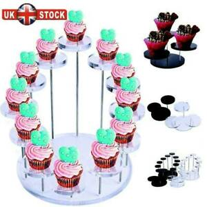 Cupcake Dessert Stand Acrylic Jewelry Display Holder Rack Birthday Party Decora