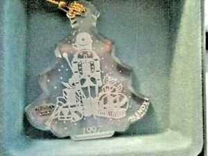 LENOX Made Germany Annual 1997 Crystal CHRISTMAS TREE Ornament NIB