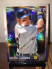 2015 Topps Chrome Miguel Cabrera Prism Refractor Detroit Tigers