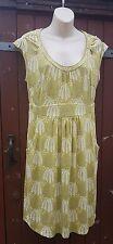 Pretty BODEN Green Jersey Dress, 'Tree' Pattern, Size 12R