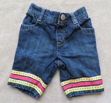 EUC Gymboree Citrus Cooler Denim Capri Pants Size 3-6 3 6 Months