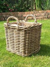Square Kindling / Storage Basket - Excellent Quality - Removable Liner - Small
