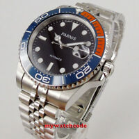 40mm Parnis black dial sapphire glass Jubilee strap MIYOTA automatic Mens Watch