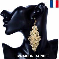 Boucle d'oreille Feuille Cadeau Bijoux Femme Anniversaire Mariage Soirée Mode