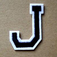Letter J Patch Alphabet  Iron Sew On Applique Badge Motif