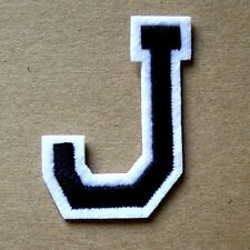 Letter J Patch Alphabet  Iron Sew On Applique Badge Motif