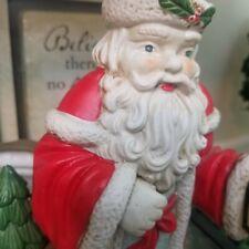 Father Christmas Planter Santa Claus Vintage Holiday Decor