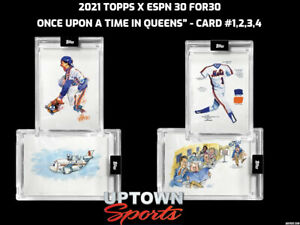 """2021 Topps x ESPN 30for30 - """"Once Upon a Time in Queens"""" 4 CARD BUNDLE"""