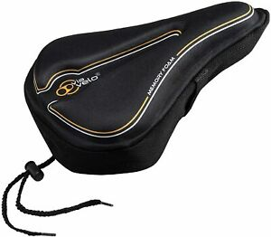 Via Velo Memory Foam Bike Seat Cover For Mens Womens Outdoor/Indoor Cycling
