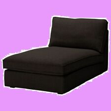 IKEA Kivik Chaise Lounge Sofa NEW COVER ONLY Teno Black(Mates Avail w/Disc)Wool