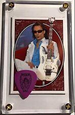 Steve Vai trading card #251 /black on purple Passion Warfare guitar pick display