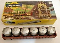 HO scale Athearn Michigan Central Gondola with 6 cannisters MCRR 350623