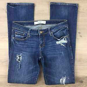 Abercrombie & Fitch A&F Boot Cut stretch Women's Jeans Size 28 Actual W31 (N19)