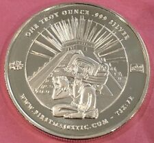 First Majestic Collectible Aztec Pyramids 1 Troy Ounce .999 Fine Silver Coin 999