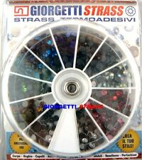 STRASS SS16 4mm Colori misti 864pz hotfix termoadesivi adesivi a caldo assortiti