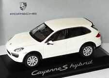 PORSCHE CAYENNE S HYBRID 2010 SANDWEISS MINICHAMPS WAP0200040B 1/43 WHITE BLANC