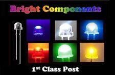 Straw Hat LEDs 5mm Red,Blue,White,Green,Yellow,UV,Orange,Warm White - UK