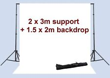 2x3m 7x10 ft Photo Studio Background Support + Backdrop