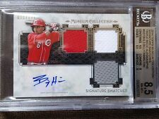 2014 TOPPS MUSEUM COLLECTION SIGNATURE SWATCHES AUTO BILLY HAMILTON BGS 8.5 /171