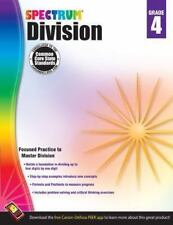 SPECTRUM MATH - Division Workbook, Grade 4 by Carson Dellosa