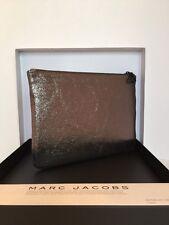 """Marc Jacob Metallic Size 7""""x10"""" Genuine Leather Pouch Brand New"""