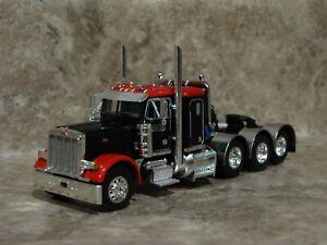 DCP 1/64 Red Black Tri-Axle Peterbilt Semi Truck Farm Toy