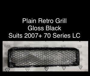 Retro Black Grill suits Toyota Landcruiser VDJ 79 70 76 Series