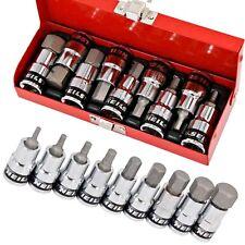 10pc 1/2 Dr Hex Bit Set Allen Key Socket Tool H4. 5. 6. 8. 10. 12. 14. 17. 19mm