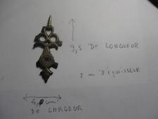 grosse Aiguilles de pendule horloge lanterne cartel ou autre bronze     REF 01