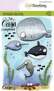 Motiv-Stempel Clear Stamp Ocean 1 Wal Fisch Alge Carla CraftEmotion 130501/1621