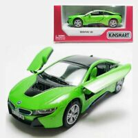 Kinsmart 1:36 Die-cast BMW i8 Car Green Model with Box Collection New Gift
