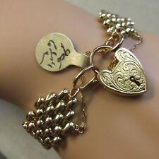 9 ct GOLD second hand old four bar gate bracelet