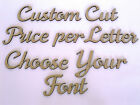 Custom Wooden Names Craft Wood MDF Cut Out 5cm tall - Price is per letter