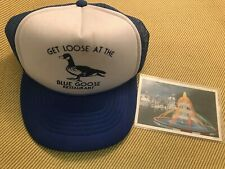 Buckeye Lake Blue Goose Restaurant Hat & Park Fountain Postcard